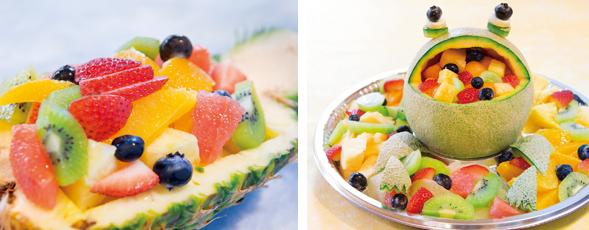 大阪で飲食店のメニュー・販促物の制作は「おいしいデザイン.com」  FRUIT GARDEN 山口果物 フルーツ盛り合わせ