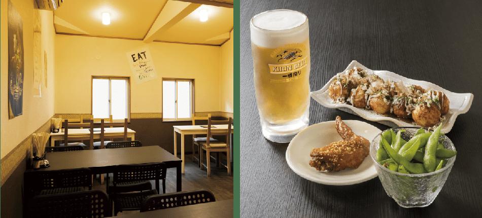 大阪で飲食店のメニュー・販促物の制作は「おいしいデザイン.com」 たこ海賊九条店店内画像