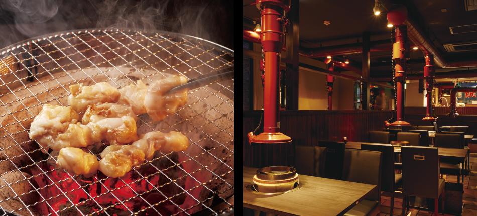 大阪で飲食店のメニュー・販促物の制作は「おいしいデザイン.com」 百野焼肉 店内・料理画像